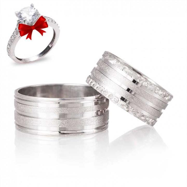 Yağmur Gümüş Alyans Modeli Nişan Yüzüğü